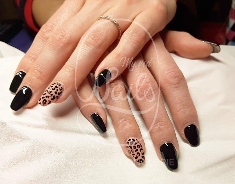 manucure léopard