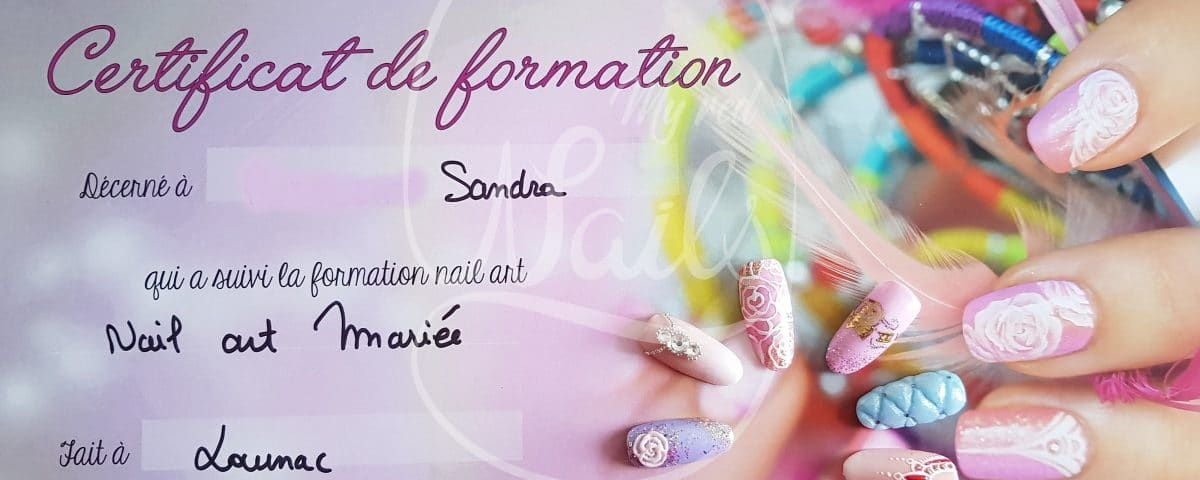 formation nail art de mariée