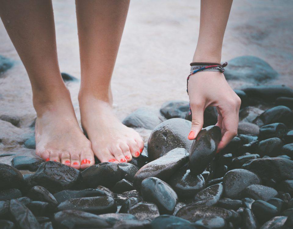 Vernis semi permanent aux pieds